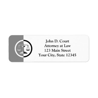 Scales of Justice Label