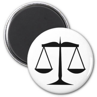 Scales of Justice (Law) 2 Inch Round Magnet