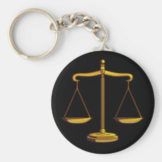 Scales of Justice | Law Basic Round Button Keychain