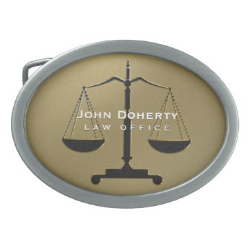 Scales of Justice | Law Belt Buckle