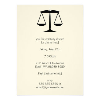 Scales of Justice (Law) Card