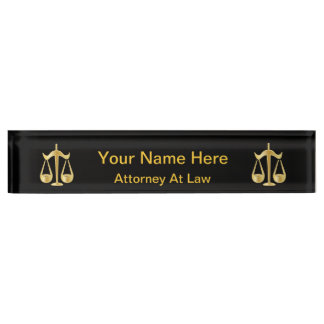 Scales of Justice | Law | DIY Text Desk Name Plate