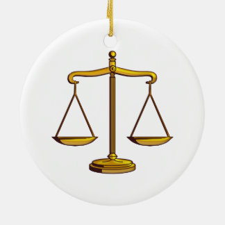 Scales of Justice | Law Gifts Ceramic Ornament