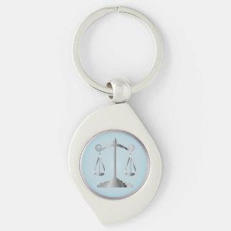 Scales of Justice   Law   Lawyer   Aqua Blue Keychain
