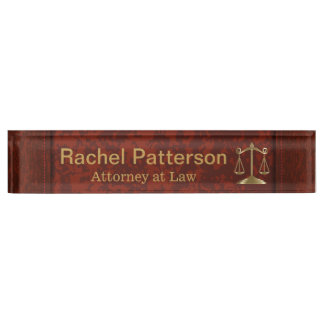 Scales of Justice | Law | Lawyer Desk Nameplate