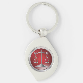Scales of Justice   Law   Lawyer   Red Keychain