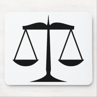 Scales of Justice (Law) Mouse Pad