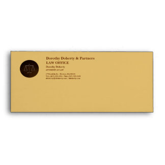 Scales of Justice, LAW OFFICE Envelope
