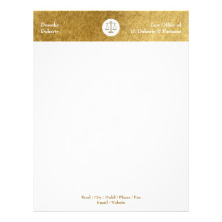 Scales of Justice LAW OFFICE Letterhead