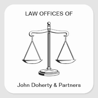 Scales of Justice | Law Office Square Sticker