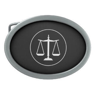 Scales of Justice | Law Oval Belt Buckle