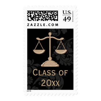 Scales of Justice Law School Class of Stamp