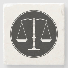 Scales of Justice   Law School Gifts Stone Coaster