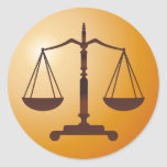 Scales of Justice - Law sticker