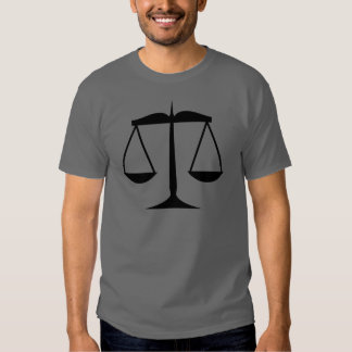 Scales of Justice (Law) T Shirt