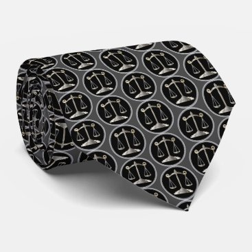 Lawyer Themed Scales of Justice | Law Tie
