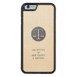 Scales of Justice   Lawyer Carved® Maple iPhone 6 Bumper