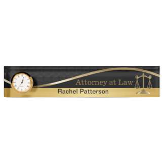 Scales of Justice | Lawyer | Legal Office Nameplate