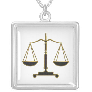 Scales of Justice   Lawyer Necklace