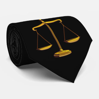 Scales of Justice   Lawyers Gifts Neck Tie