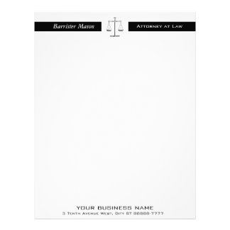 Scales of Justice Letterhead