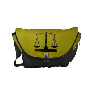 Scales Of Justice Small Messenger Bag