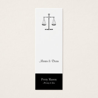 Scales of Justice Mini Business Card