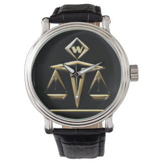 Scales of Justice - Monogrammed (v1) Watch