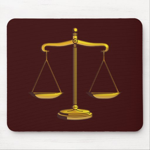 Scales of Justice - Mousepad