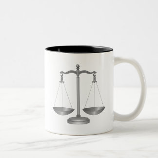 Scales of Justice Two-Tone Coffee Mug