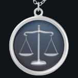 """Scales of Justice - Necklace<br><div class=""""desc"""">Necklace with scales of justice design.</div>"""