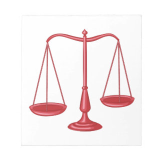 Scales Of Justice Notepad