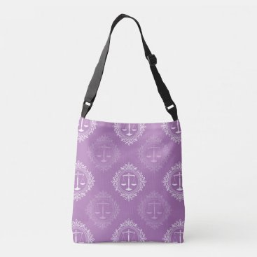Scales of Justice Pattern | Lawyer Gifts Crossbody Bag
