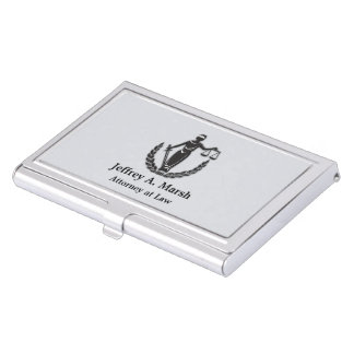 Scales of Justice Personalized Business Card Holder