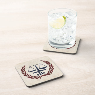 Scales of Justice Personalized Lawyer Gifts Coaster