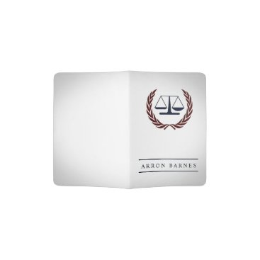 Scales of Justice Personalized Lawyer Gifts Passport Holder