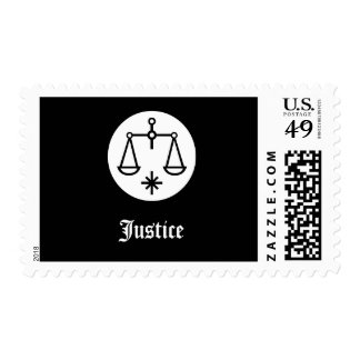 Scales of Justice Postage Stamp