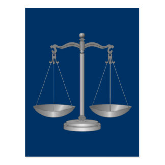 Scales of Justice Post Cards