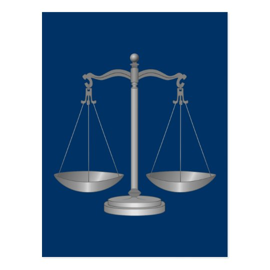 Scales of Justice Postcard
