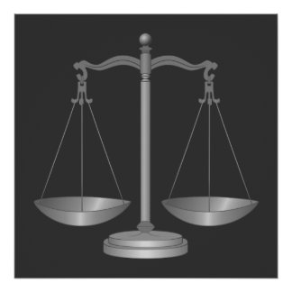 Scales of Justice Poster