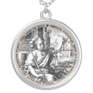 Scales of Justice Silver Plated Necklace