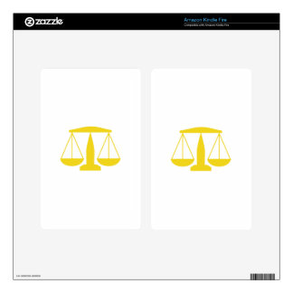 SCALES OF JUSTICE DECALS FOR KINDLE FIRE