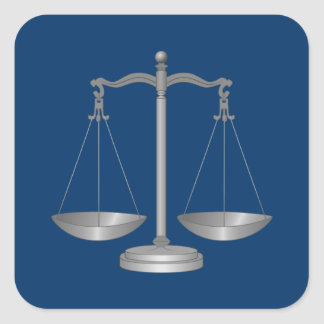 Scales of Justice Square Sticker