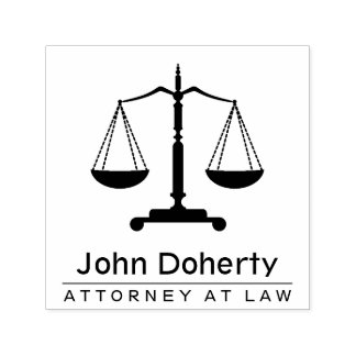 Scales of Justice Symbol | Personalizable Self-inking Stamp