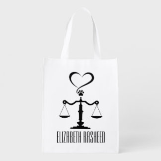 Scales of Justice Tote Grocery Bag