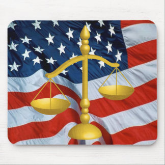 SCALES OF LAW AND JUSTICE MOUSE PAD