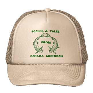 SCALES & TALES Design Fishing Hat EZ TO CUSTOMIZE