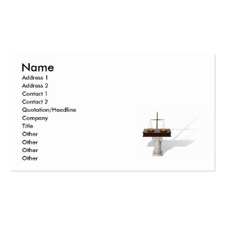 ScalesPedestal, Name, Address 1, Address 2, Con... Business Card Template