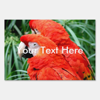 Scalet Macaw Sign