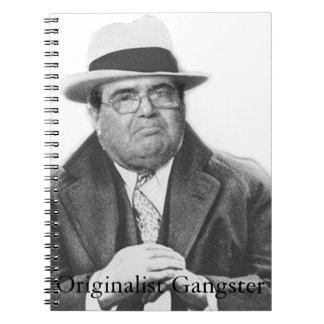 Scalia Originalist Gangster Spiral Notebook